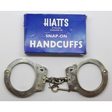 Hiatts Snap-On Police Handcuffs in Original Box with Key