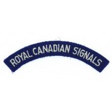 Royal Canadian Signals (ROYAL CANADIAN SIGNALS) Cloth Shoulder Title