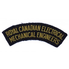 Royal Canadian Electrical Mechanical Engineers (ROYAL CANADIAN ELECTRICAL/MECHANICAL ENGINEERS) Cloth Shoulder Title