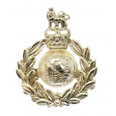 Royal Marines Anodised (Staybrite) Cap Badge - Queen's Crown