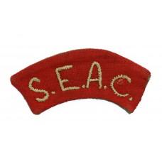South East Asia Command (S.E.A.C.) Cloth Shoulder Title
