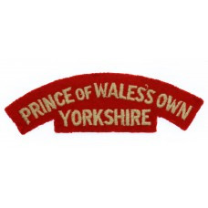 Prince of Wales's Own Regiment of Yorkshire (PRINCE OF WALES'S OWN/YORKSHIRE) Cloth Shoulder Title