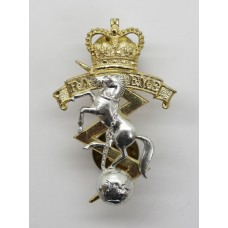 Royal Australian Electrical & Mechanical Engineers (R.A.E.M.E.) Anodised (Staybrite) Cap Badge - Queen's Crown