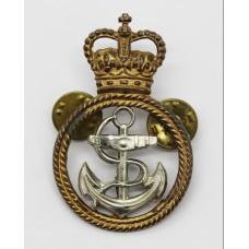 Royal Navy Petty Officer's Bi-Metal Cap Badge - Queen's Crown