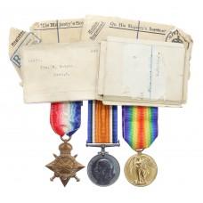 WW1 1914-15 Star Medal Trio - Pte. W. Watson, 8th Bn. Lincolnshire Regiment