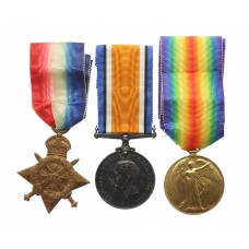 WW1 1914 Mons Star Medal Trio - Pte. J. Sutton, 2nd Bn. Durham Light Infantry - Died of wounds