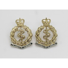 Pair of Royal Army Medical Corps (R.A.M.C.) Anodised (Staybrite) Collar Badges