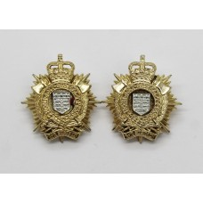 Pair of Royal Logistic Corps (R.L.C.) Anodised (Staybrite) Collar Badges