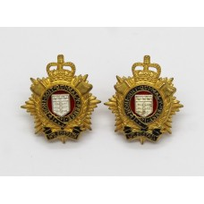 Pair of Royal Logistic Corps (R.L.C.) Officer's Collar Badges