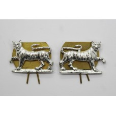 Pair of Gordon Highlanders Anodised (Staybrite) Collar Badges