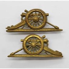 Pair of Royal Artillery Senior N.C.O.'s Gun Arm Badges