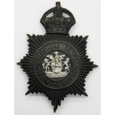 Nottinghamshire Constabulary Night Helmet Plate - King's Crown