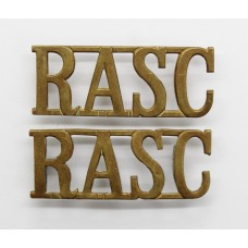 Pair of Royal Army Service Corps (R.A.S.C.) Brass Shoulder Titles