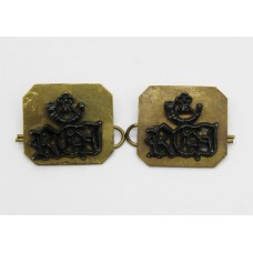 Pair of Royal Green Jackets (RGJ) Shoulder Titles