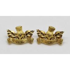 Pair of Royal Regiment of Scotland Officer's Collar Badges