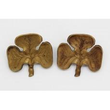 Scarce Pair of Edwardian Irish Guards Collar Badges