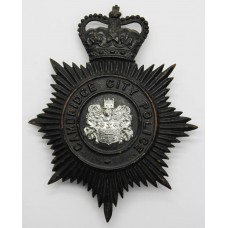 Cambridge City Police Night Helmet Plate - Queen's Crown