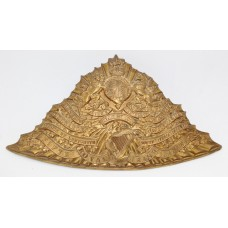 Edwardian 5th Royal Irish Lancers Czapka Cap Plate