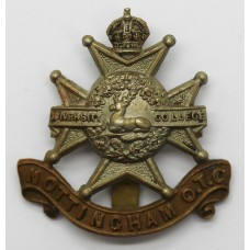 Nottingham University O.T.C. Cap Badge - King's Crown