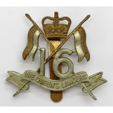 16th/5th Queen's Lancers Cap Badge - Queen's Crown