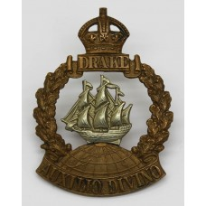 WWI Drake Battlion Royal Naval Division Cap Badge