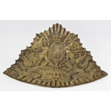 Victorian 16th (Queen's) Lancers Czapka Cap Plate