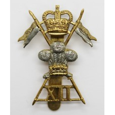 12th Royal Lancers Cap Badge - Queen's Crown