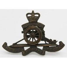 Royal Artillery Officer's Service Dress Cap Badge - Queen's Crown