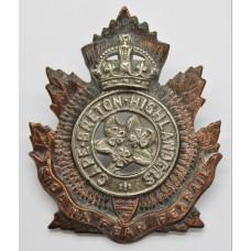 Canadian Cape Breton Highlanders Cap Badge - King's Crown