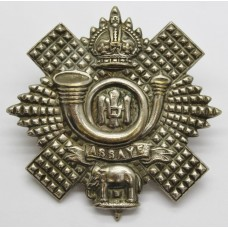 Highland Light Infantry (H.L.I.) Chrome Cap Badge - King's Crown