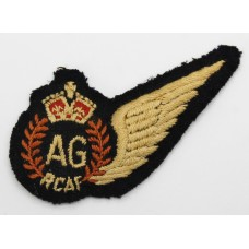 WW2 Royal Canadian Air Force (R.C.A.F.) Air Gunner (A.G.) Padded Brevet Wing