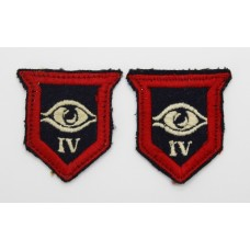 Pair of 4th Guards Infantry Brigade Formation Signs