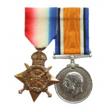 WW1 1914 Mons Star and British War Medal - Pte. G. Kelly, 1st Bn.