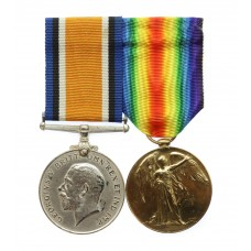 WW1 British War & Victory Medal Pair - Capt. R.I. Smith, 2/4t