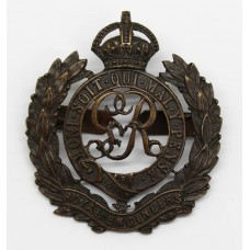 George V Royal Engineers Officer's Service Dress Cap Badge