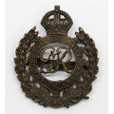 George VI Royal Engineers Officer's Service Dress Cap Badge