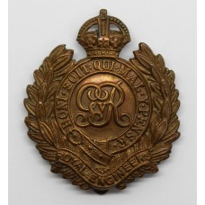 George V Royal Engineers WWI Economy Cap Badge (Non Voided Centre