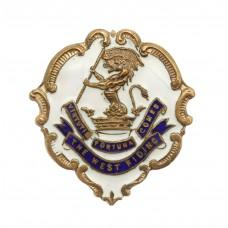 WW1 West Riding Regiment (Duke of Wellingtons) Enamelled Sweethea