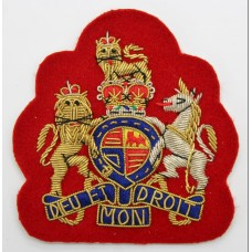 British Army W.O.1's Bullion Arm Badge - Queen's Crown (Red Backi