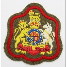 British Army RSM's Cloth Arm Badge - King's Crown