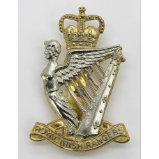 Royal Irish Rangers Bi-metal Cap Badge - Queen's Crown