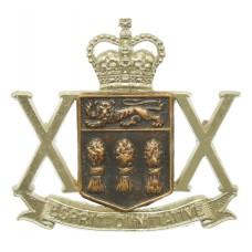 Canadian 20th Saskatchewan Dragoons Cap Badge - Queen's Crown