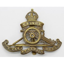 Royal Artillery Cap Badge - King's Crown