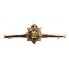 Devonshire Regiment 9ct Gold & Enamel Sweetheart Brooch - Kin