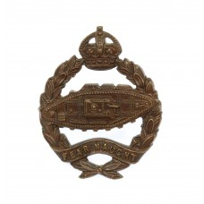 Royal Tank Regiment Officer's Service Dress Collar Badge - King's