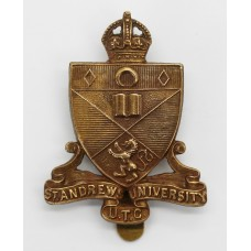 St. Andrew's University U.T.C. Cap Badge - King's Crown