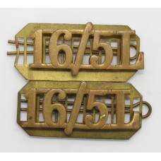 Pair of 16th/5th Queen's Lancers (16/5L) Shoulder Titles