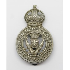 Nottinghamshire Constabulary Cap Badge - King's Crown (Peacocks C.O.A. Centre)