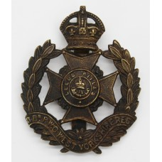 8th Bn. (Leeds Rifles) West Yorkshire Regiment Cap Badge - King's Crown