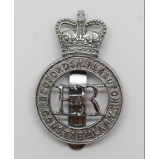 Bedfordshire & Luton Constabulary Cap Badge - Queen's Crown